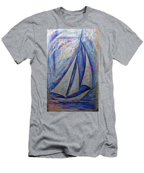 Metallic Seas Men's T-Shirt (Athletic Fit)