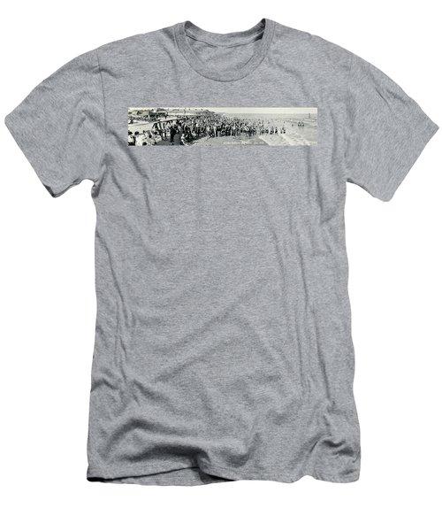Miami Beach Sunbathers 1921 Men's T-Shirt (Slim Fit) by Jon Neidert