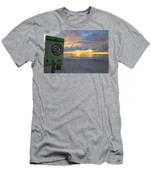 Miami Beach Sunrise Men's T-Shirt (Athletic Fit)