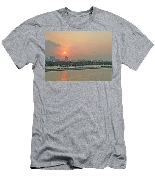 Miami Sunrise Men's T-Shirt (Athletic Fit)