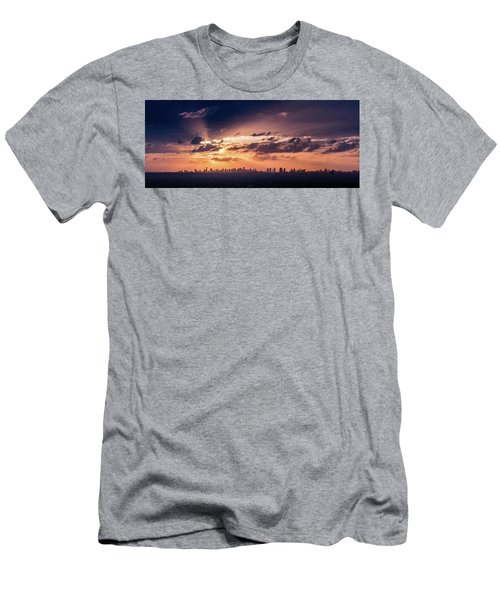 Miami Sunset Pano Men's T-Shirt (Athletic Fit)