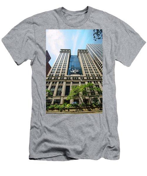 Michael A Bilandic Building Chicago Men's T-Shirt (Slim Fit) by Deborah Smolinske