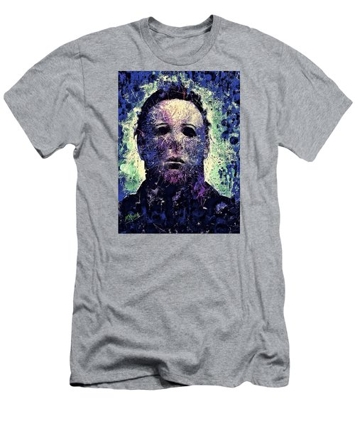 Men's T-Shirt (Athletic Fit) featuring the mixed media Michael Myers by Al Matra