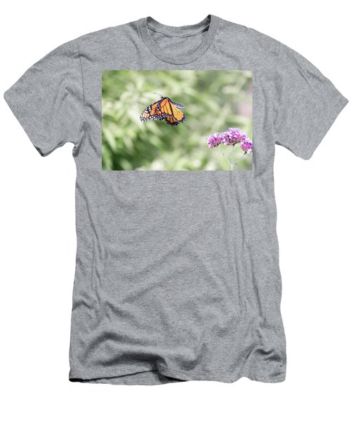 Men's T-Shirt (Athletic Fit) featuring the photograph Mid-air Monarch 1 by Brian Hale