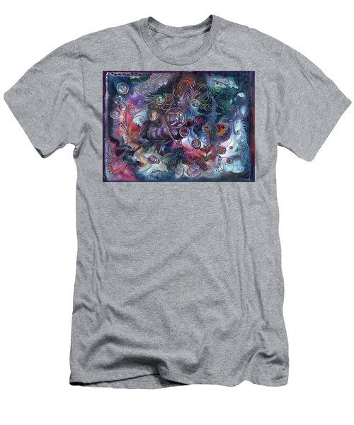 Midnight Dancing Bubbles Men's T-Shirt (Athletic Fit)