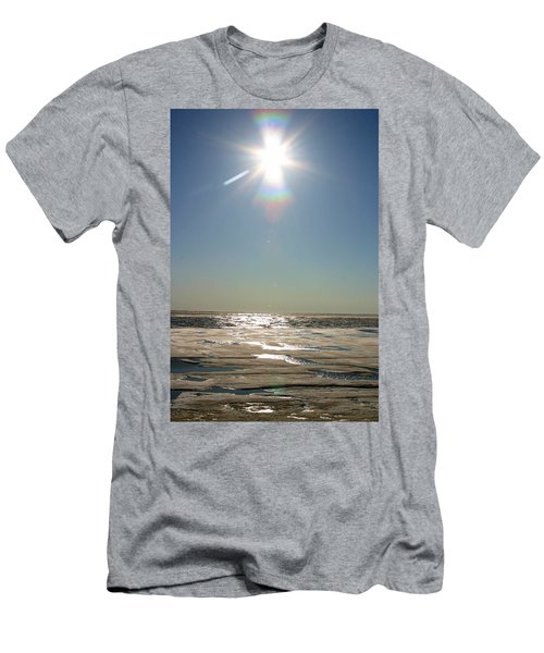 Midnight Sun Over The Arctic Men's T-Shirt (Athletic Fit)