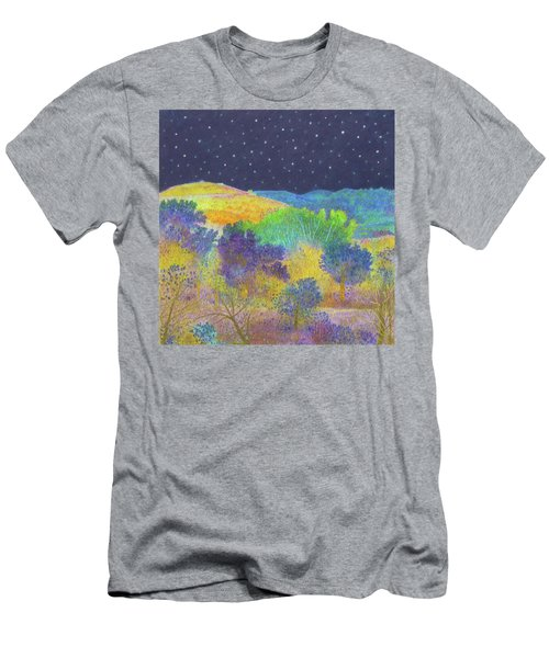Midnight Trees Dream Men's T-Shirt (Athletic Fit)