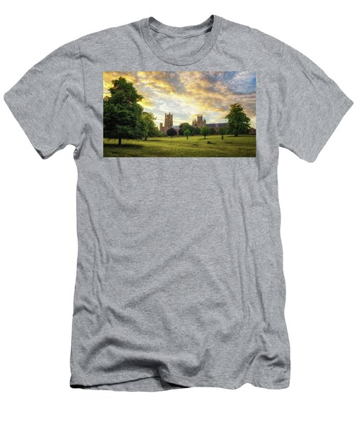 Men's T-Shirt (Athletic Fit) featuring the photograph Midsummer Evening In Ely by James Billings