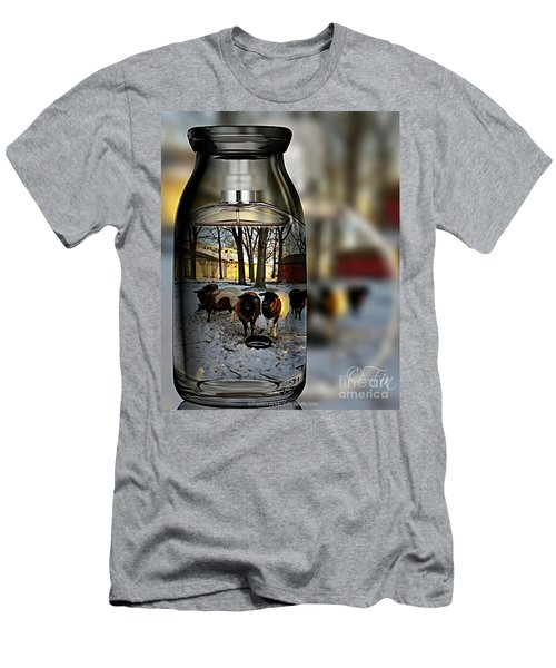 Milk Jar Reflecton Men's T-Shirt (Athletic Fit)