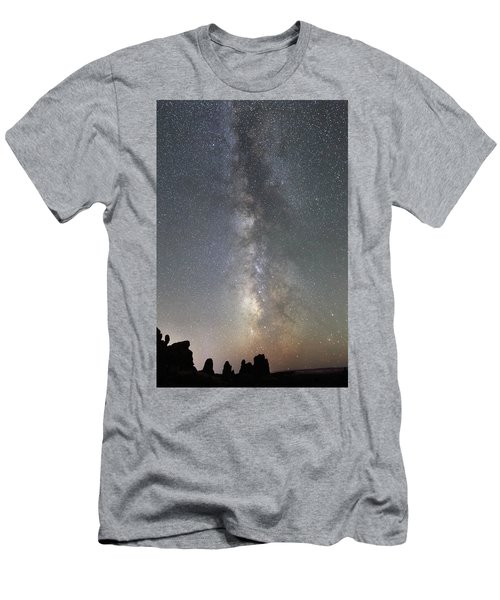 Milky Way Over Arches Np Two Men's T-Shirt (Athletic Fit)