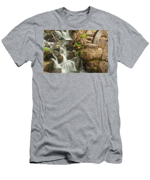 Mill Wheel With Waterfall Men's T-Shirt (Athletic Fit)