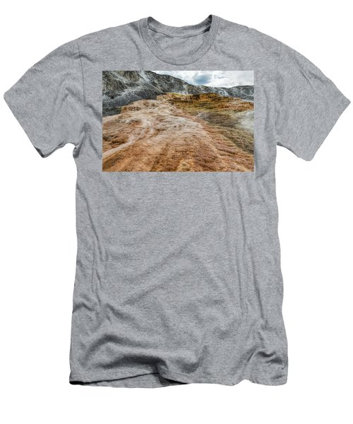 Men's T-Shirt (Athletic Fit) featuring the photograph Minerva Hot Springs Yellowstone by John M Bailey