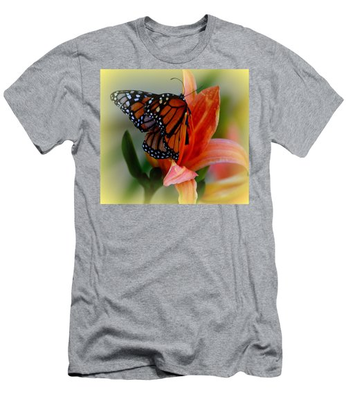 Mingle With A Monarch Men's T-Shirt (Athletic Fit)