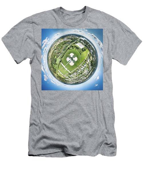 Men's T-Shirt (Athletic Fit) featuring the photograph Miniwaukan Park Little Planet by Randy Scherkenbach