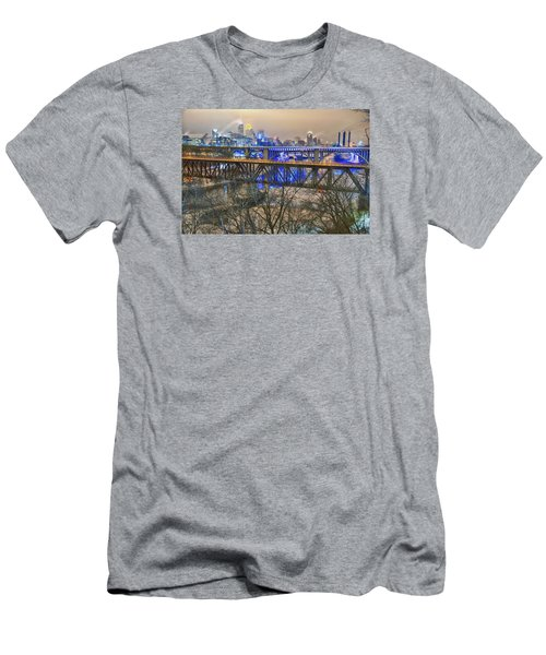 Minneapolis Bridges Men's T-Shirt (Athletic Fit)