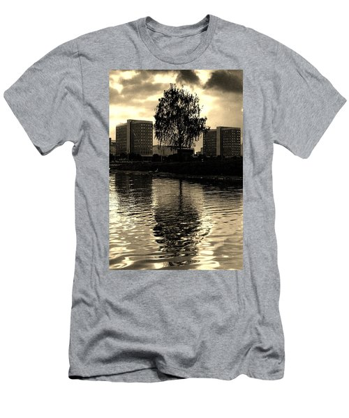 Men's T-Shirt (Slim Fit) featuring the photograph Minsk Dramatic View by Vadim Levin