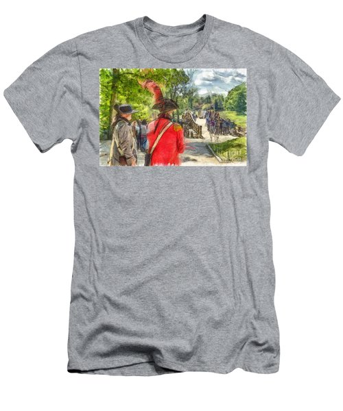 Minuteman And Redcoat Concord Ma Pencil Men's T-Shirt (Athletic Fit)