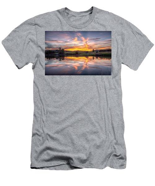 Mirror Lake Sunset Men's T-Shirt (Athletic Fit)