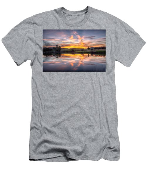 Mirror Lake Sunset Men's T-Shirt (Athletic Fit)
