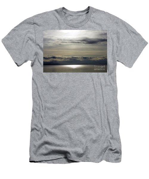 Mirror Sunset Landscape Men's T-Shirt (Athletic Fit)