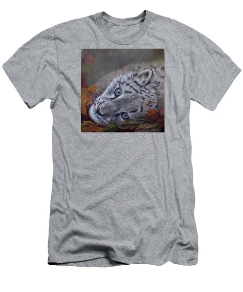 Men's T-Shirt (Slim Fit) featuring the painting Mirucha In Fall by Ceci Watson