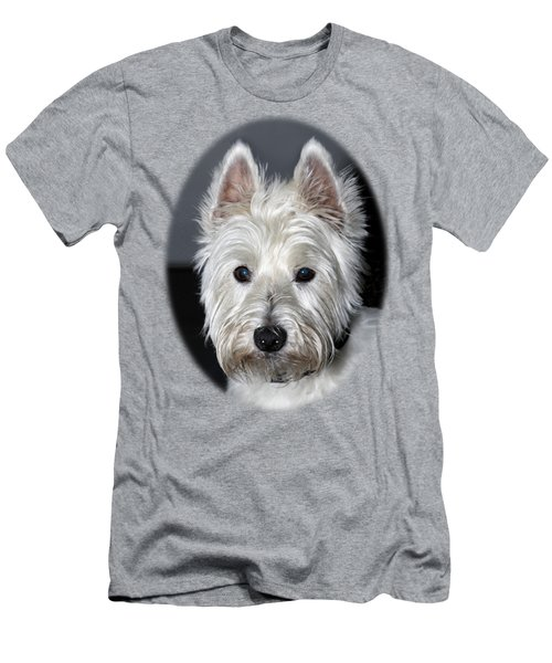 Mischievous Westie Dog Men's T-Shirt (Slim Fit) by Bob Slitzan