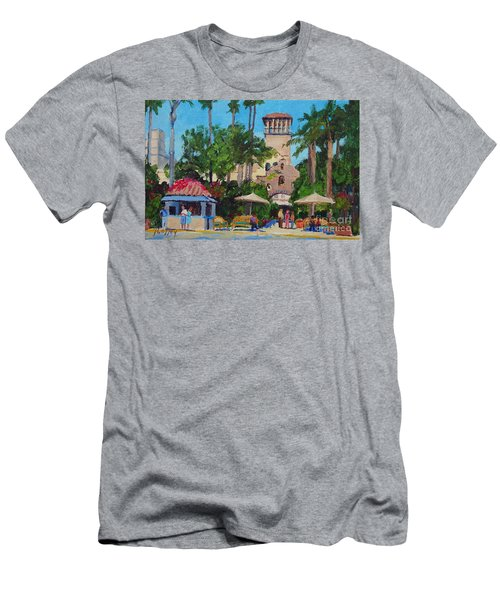 Mission Inn On A Sunny Day Men's T-Shirt (Athletic Fit)