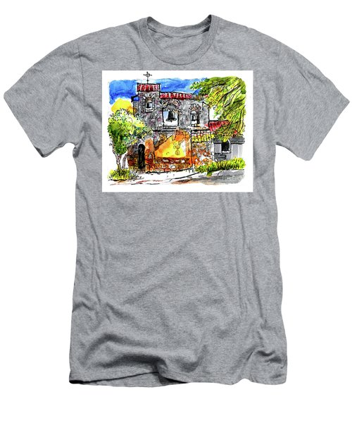 Men's T-Shirt (Slim Fit) featuring the painting Mission San Miguel by Terry Banderas