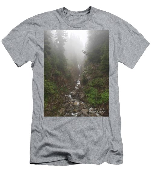 Misted Waterfall Men's T-Shirt (Athletic Fit)