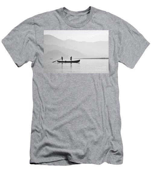 Misty Morning 3 Men's T-Shirt (Slim Fit) by Kiran Joshi