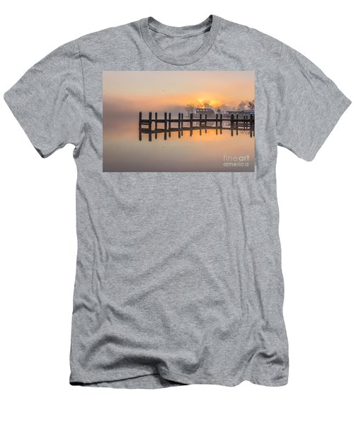 Men's T-Shirt (Slim Fit) featuring the photograph Misty Morning by Brian Wright