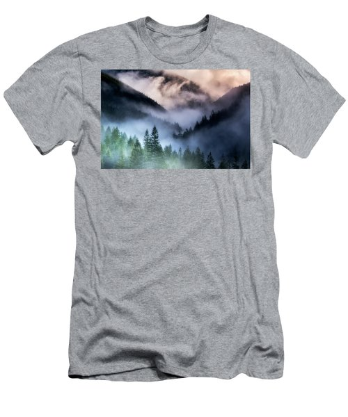 Misty Mornings Men's T-Shirt (Slim Fit) by Nicki Frates