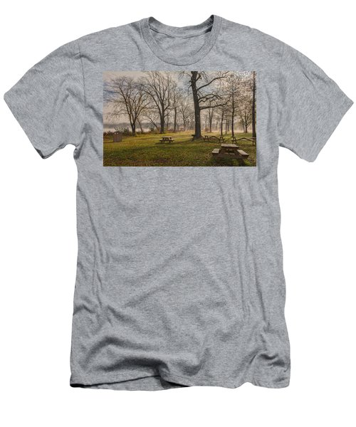 Misty November Picnic Grove Men's T-Shirt (Athletic Fit)