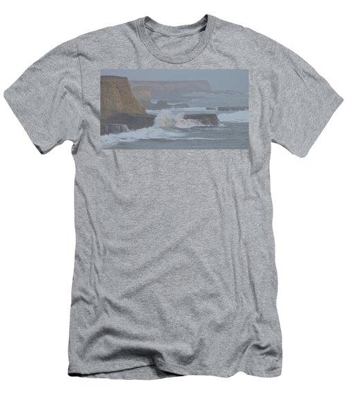 Misty Pacific Cliffs Men's T-Shirt (Athletic Fit)