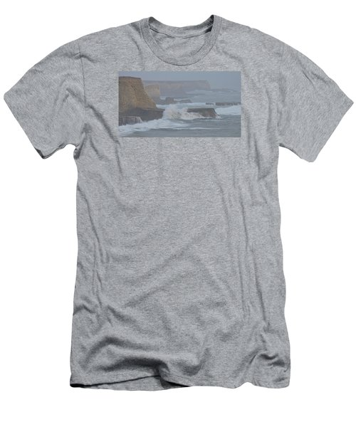 Misty Pacific Cliffs Men's T-Shirt (Athletic Fit)