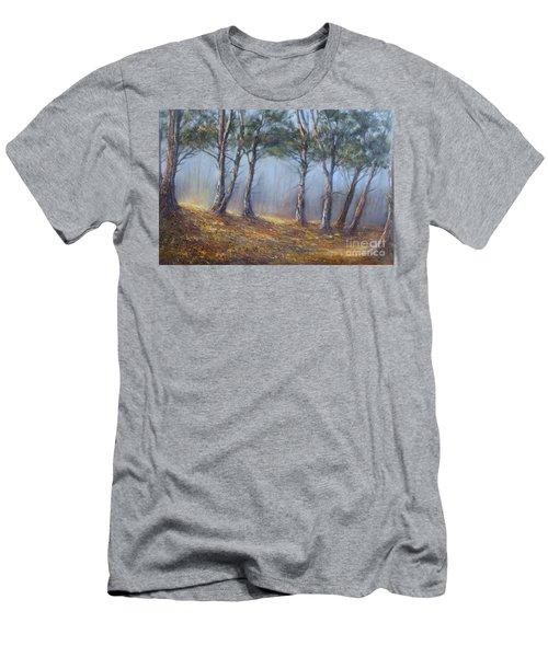 Misty Pines Men's T-Shirt (Slim Fit) by Valerie Travers