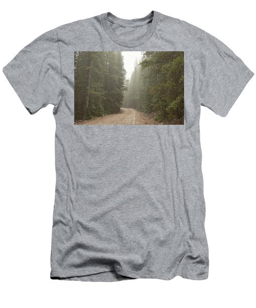 Men's T-Shirt (Athletic Fit) featuring the photograph Misty Road by James BO Insogna
