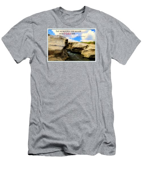 Men's T-Shirt (Slim Fit) featuring the photograph Mlk 1 by David Norman
