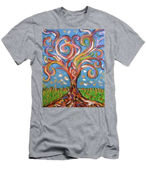 Modern Impasto Expressionist Painting  Men's T-Shirt (Athletic Fit)