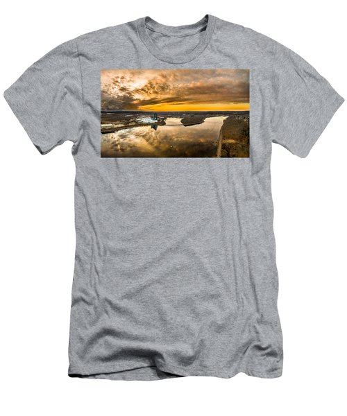 Men's T-Shirt (Slim Fit) featuring the photograph Mohegan Sun Sunset by Petr Hejl