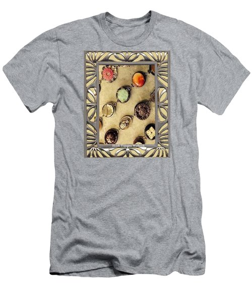 Men's T-Shirt (Slim Fit) featuring the mixed media Moments In Time Bracelet Art by Heidi Walkush