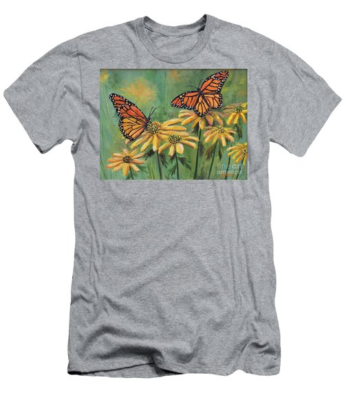 Monarch Butterflies Men's T-Shirt (Slim Fit) by Lou Ann Bagnall