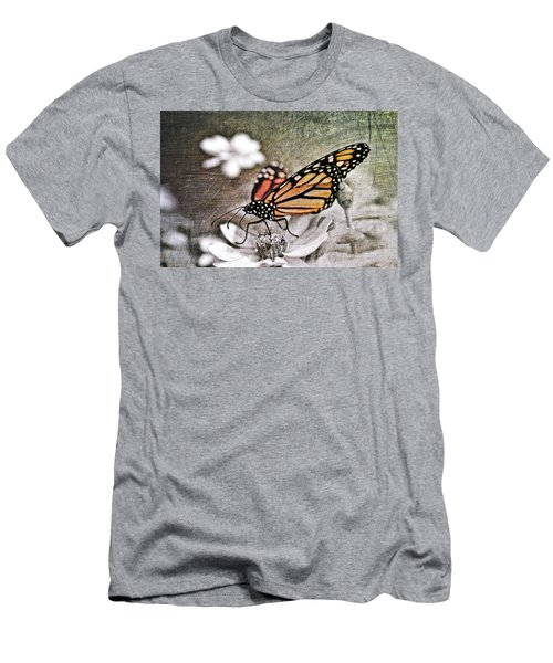 Men's T-Shirt (Athletic Fit) featuring the photograph Monarch Butterfly by Marianna Mills