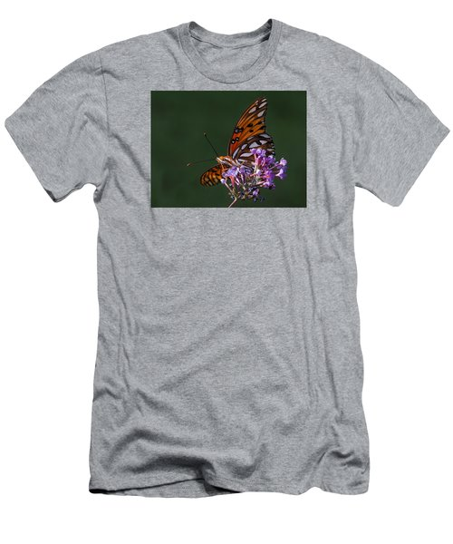 Monarch Butterfly On A Butterfly Bush Men's T-Shirt (Athletic Fit)