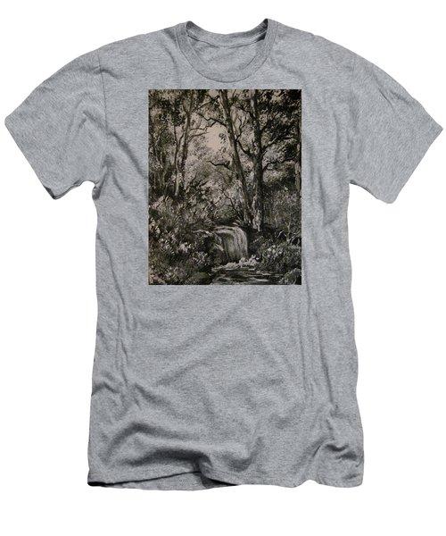 Monochrome Landscape 2 Men's T-Shirt (Slim Fit) by Megan Walsh