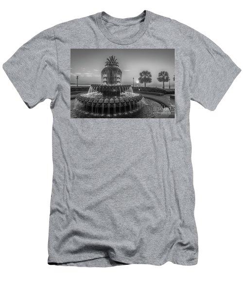 Monochrome Pineapple Men's T-Shirt (Athletic Fit)
