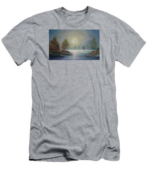 Monstruo Ness Men's T-Shirt (Slim Fit) by Angel Ortiz