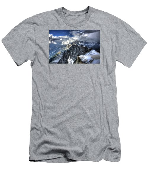 Men's T-Shirt (Slim Fit) featuring the photograph Mont Blanc Near Chamonix In French Alps by Shawn Everhart