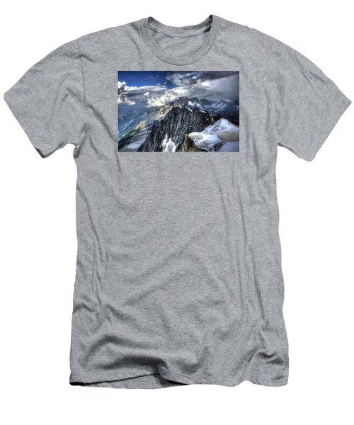 Mont Blanc Near Chamonix In French Alps Men's T-Shirt (Slim Fit)