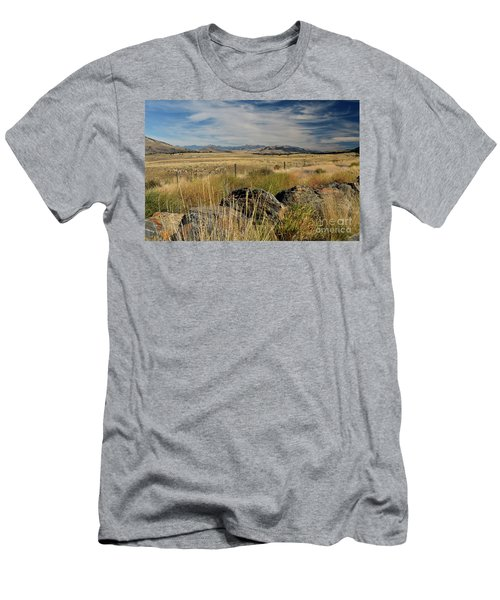 Montana Route 200 Men's T-Shirt (Slim Fit) by Cindy Murphy - NightVisions